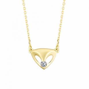 Золотая цепочка из желтого золота с бриллиантом 6173-300 фото