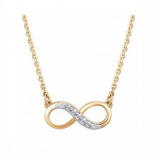 Золотая цепочка с бесконечностью и бриллиантами 6179-100 фото