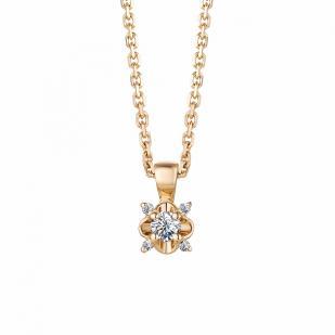Золотая цепочка с кулоном и бриллиантами 63272-100 фото