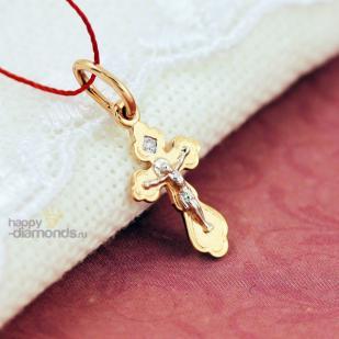 Детский крестик из золота фото