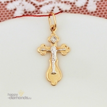 Православный крестик с бриллиантом