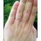 """Золотое кольцо с бриллиантом """"Пяточка"""""""