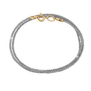 Хлопковый шнурок на золотом замке (серый)