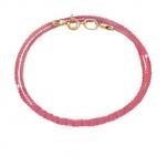 Хлопковый шнурок на золотом замке (розовый)