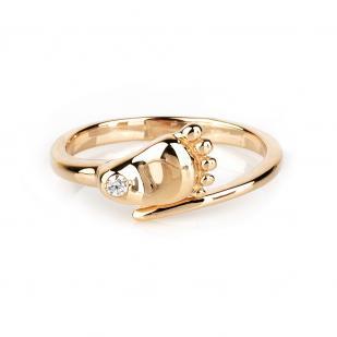"""Золотое кольцо """"Ножка младенца"""" фото"""