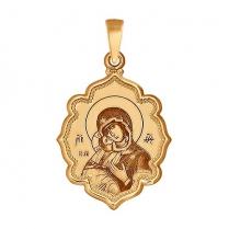 Золотая икона Владимирской Божьей Матери