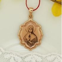 Золотая нательная икона Святая Дарья