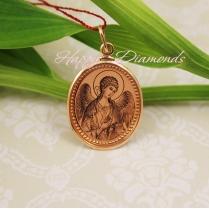Золотая иконка Ангел Хранитель