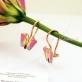 Детские серьги бабочки с розовой эмалью