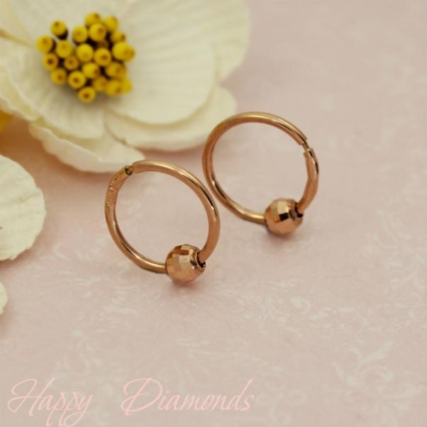 золотые кольца шариками