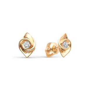 Золотые пусеты с бриллиантами 22254-100