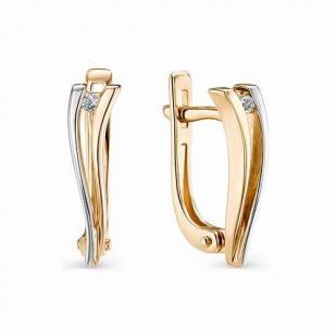 Золотые серьги с бриллиантами 22726-100 фото