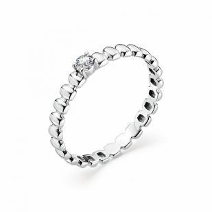 Кольцо из белого золота с бриллиантом 12841-200 фото