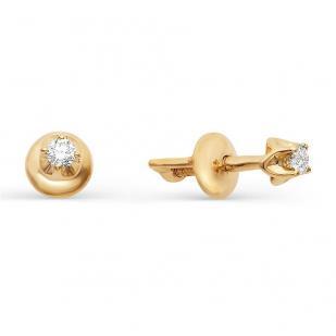 Золотые гвоздики с бриллиантами 2091-100 фото