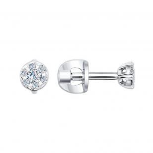 Гвоздики из белого золота с бриллиантами 1020983 фото