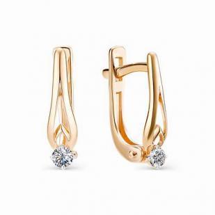 Серьги из розового золота с бриллиантами 21353-100