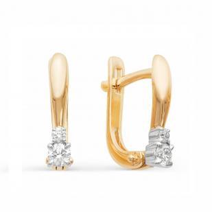 Золотые серьги с бриллиантами 21601-100 фото