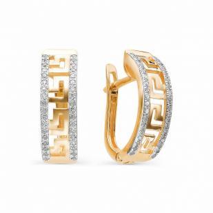 Серьги Версаче из розового золота с бриллиантами 22323-100