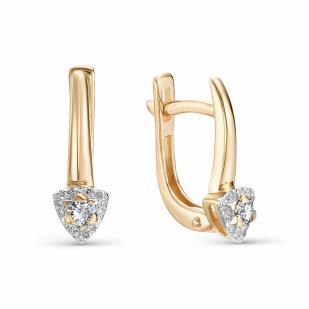 Золотые серьги с бриллиантами 22511-100