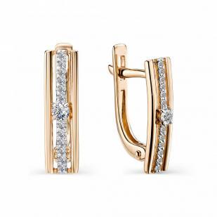 Серьги дорожки с бриллиантами Europe 22814-100