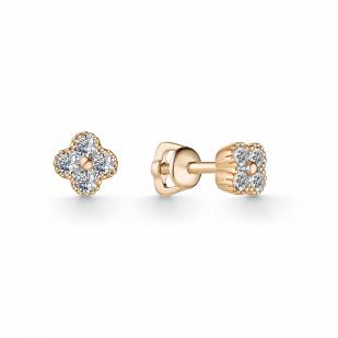 Гвоздики золотые с бриллиантами 23144-100 фото