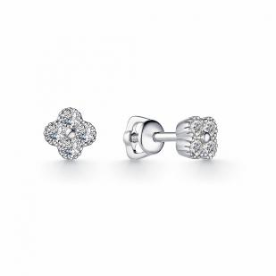 Гвоздики золотые с бриллиантами 23144-200 фото