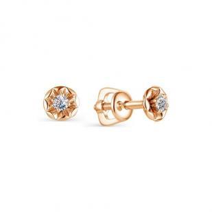 Гвоздики из золота с бриллиантами 23213-100