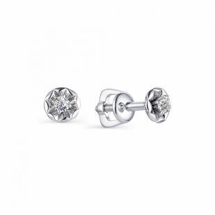 Гвоздики из белого золота с бриллиантами 23213-200