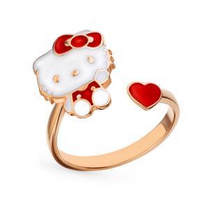 Детское кольцо Helloy Kitty золоченное серебро фото