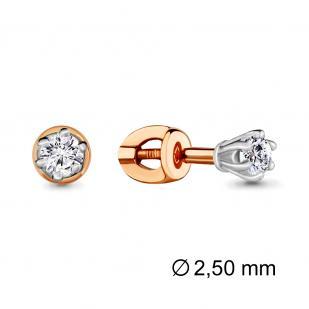 Золотые гвоздики с бриллиантами 941351к фото
