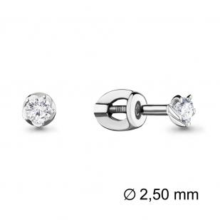 Серьги гвоздики с бриллиантами белое золото 941388 фото
