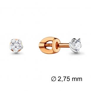 Пусеты из золота с бриллиантами 941389к фото