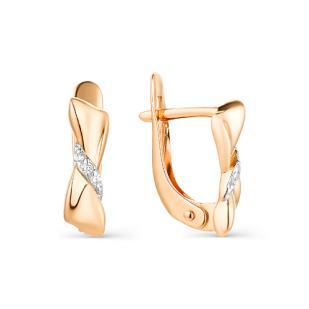Золотые сережки для девочки фото