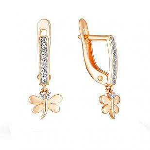 Золотые сережки Летающие стрекозки фото