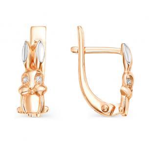 Золотые сережки Зайчата фото