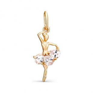 Золотая подвеска Танцовщица  фото