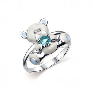 Детское кольцо с мишкой Тедди фото