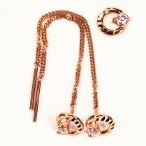 Золотые серьги цепочки кружочки