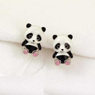 Серьги детские Панда фото