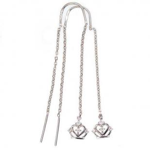 Серебряные протяжки с короной фото