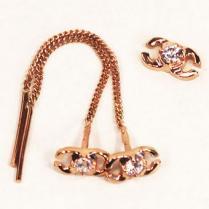 Золотые серьги цепочки шанель