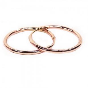 Простые золотые серьги конго 1.5 см