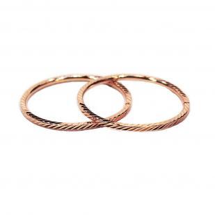 Золотые серьги конго 2 см