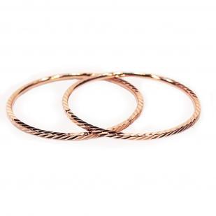 Золотые серьги конго 2.5 см
