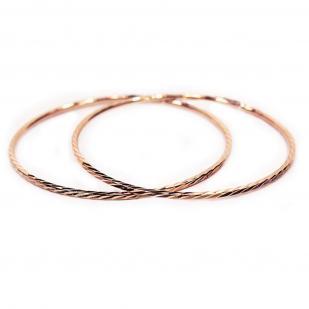 Золотые серьги конго 4 см