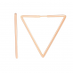 Золотые серьги треугольники