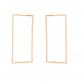 Золотые серьги прямоугольники