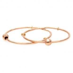 Золотые серьги кольца с шариком 2,5 см