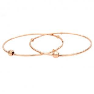 Золотые серьги кольца с шариком 3,5 см