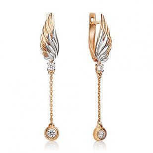Золотые серьги крылья ангела фото
